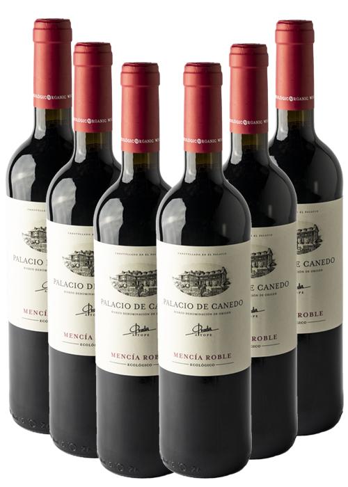PALACIO DE CANEDO TINTO ROBLE DE MENCÍA 100 % – caja 6 botellas